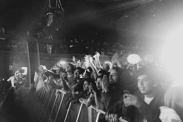 Foto eines jubelnden Publikums